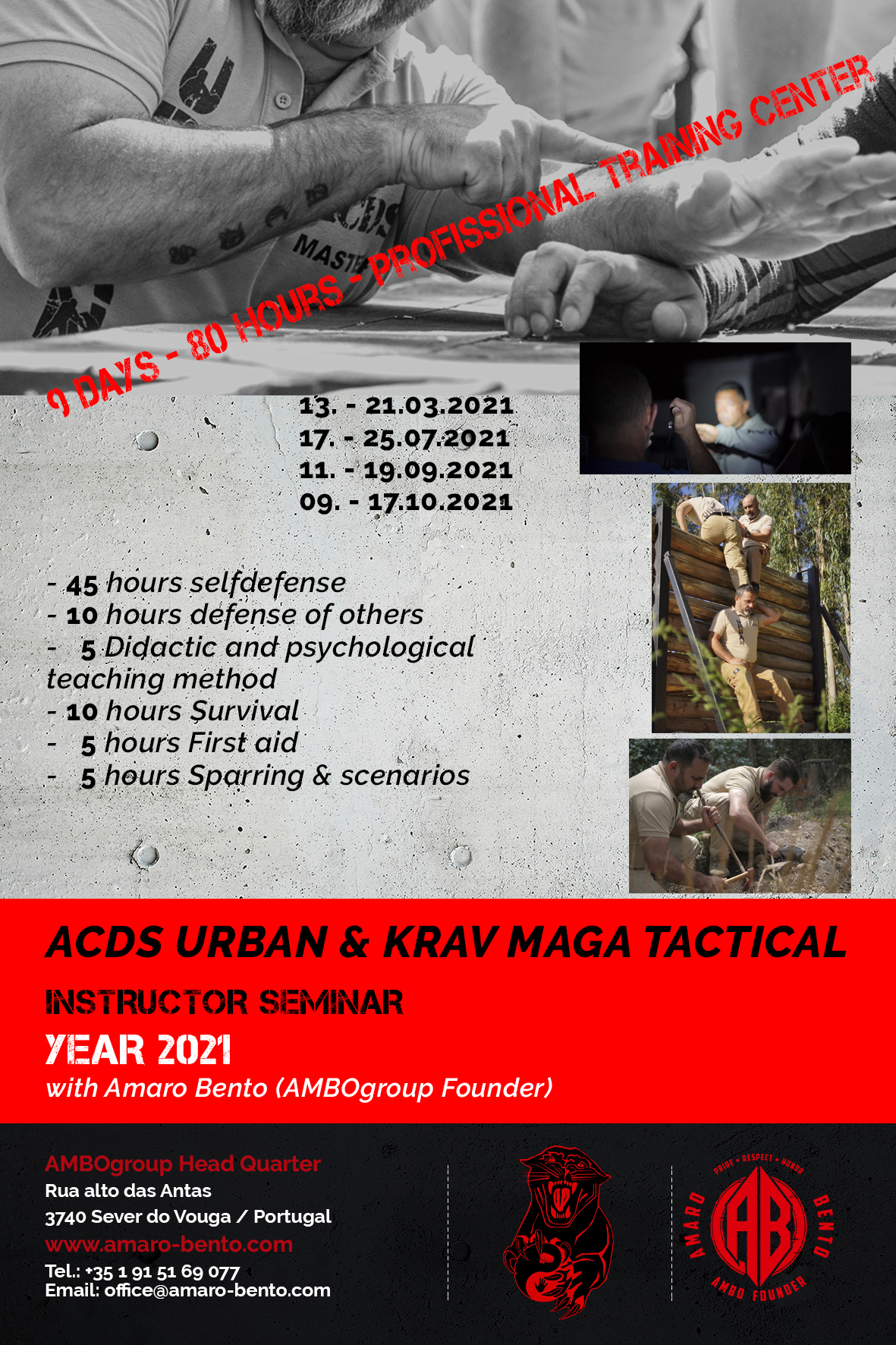 ACDS Urban and Krav Maga Tactical Instructor 2021